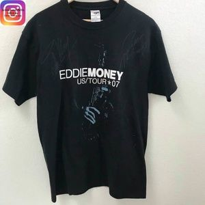 Eddie Money Autographed 2007 Tour Large T-Shirt